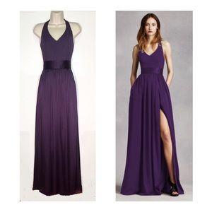 Vera Wang Amethyst Purple Empire Waist Gown